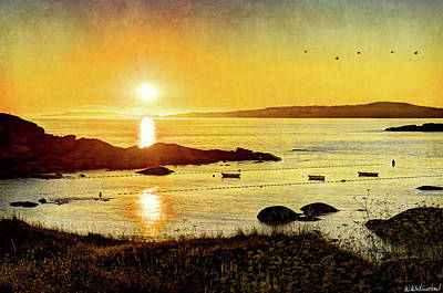 Photograph - Atlantic Sunset 5 - Vintage by Weston Westmoreland