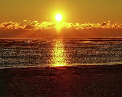 Photograph - Atlantic Sunset by B Wayne Mullins