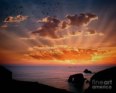 Photograph - Atlantic Sunset by Edmund Nagele