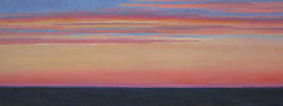 Atlantic Sunset Art Print by Jane  Simonson