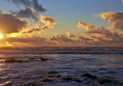 Photograph - Atlantic Sunset by Richard Brookes