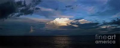 Photograph - Blue Twilight Ocean Sunset by Sue Melvin