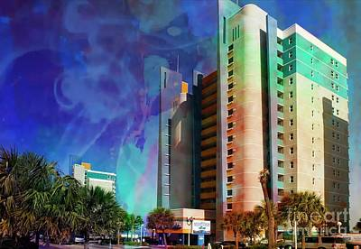 Mixed Media - Atlantica Resort Myrtle Beach by Bob Pardue