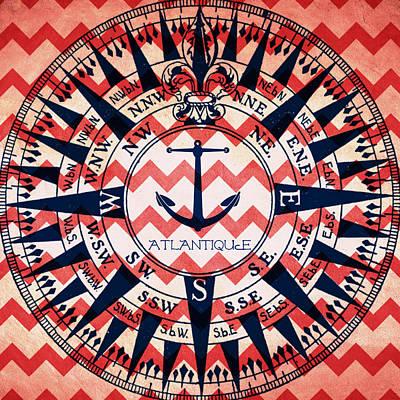 Atlantique Compass Art Print by Brandi Fitzgerald
