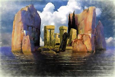 Pillars Of Hercules Digital Art - Atlantis by John Haldane