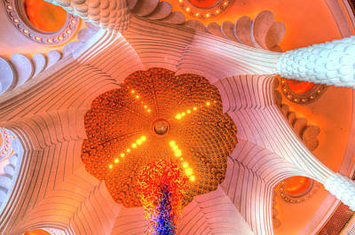 Photograph - Atlantis Palm Dubai Hotel Ceiling by David Pyatt