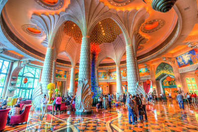 Photograph - Atlantis Palm Dubai Hotel Lobby by David Pyatt