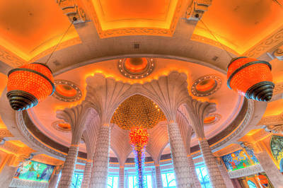 Photograph - Atlantis Palm Hotel Ceiling by David Pyatt