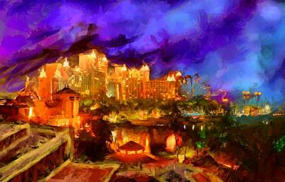 Digital Art - Atlantis Resort - Bahamas, Paradise Island by Caito Junqueira