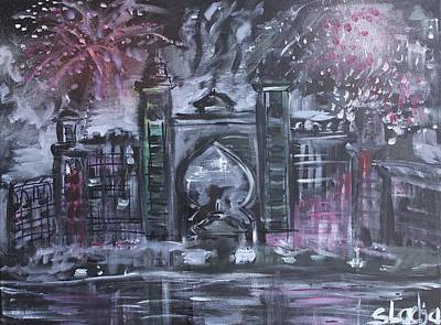 Atlantis Painting - Atlantis The Palm by Sladjana Lazarevic
