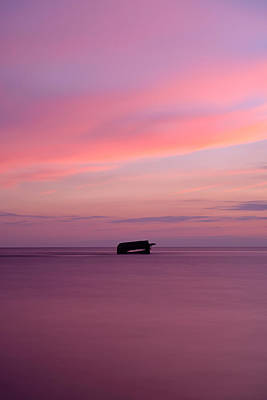 Photograph - Atlantus Pink Sunset by Mark Robert Rogers
