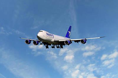 Atlas Air Boeing 747-87u Art Print