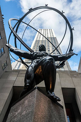 Photograph - Atlas At Rockefeller Center by Steven Richman