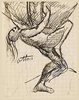 Drawing - Atlas by Auguste Rodin