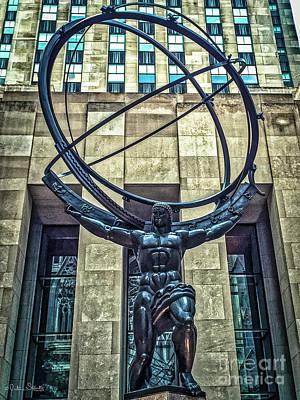 Ayn Rand Wall Art - Photograph - Atlas - Bronze Statue by Julian Starks