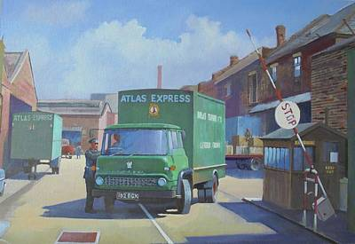 Painting - Atlas Express Bedford. by Mike Jeffries