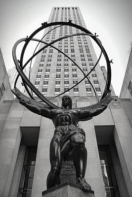 Atlas - Rockefeller Center - New York Art Print by Daniel Hagerman