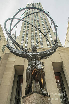 Photograph - Atlas Rockefeller Center by Timothy Lowry