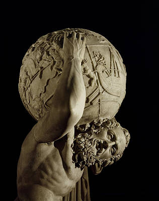 Sculpting Photograph - Atlas by Roman School