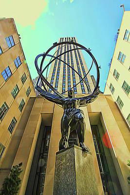 Photograph - Atlas Statue - Rockefeller Center by Allen Beatty