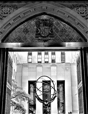 Photograph - Atlas Thru The Doors Of St Pat's by Rob Hans