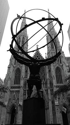 Photograph - Atlas Visits Saint Pat's1 by Allan McConnell