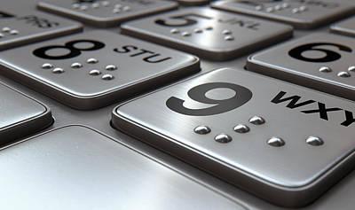 Terminal Digital Art - Atm Keypad Closeup by Allan Swart