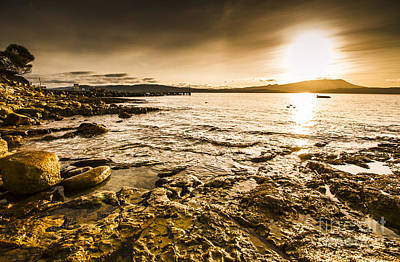 Atmospheric Dusk Seascape Art Print by Jorgo Photography - Wall Art Gallery