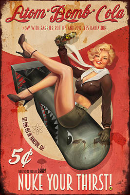 Digital Art - Atomb Bomb Cola - Nuke Your Thirst by Steve Goad