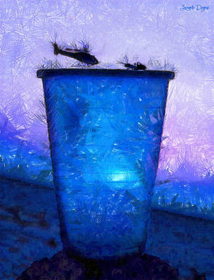 Rain Barrel Painting - Atomic Ant - Pa by Leonardo Digenio