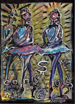 Ballet Dancers Mixed Media - Atomic Ballet by Robert Wolverton Jr