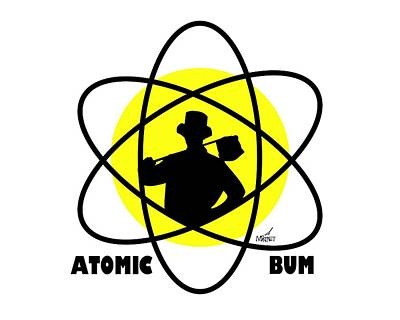 Digital Art - Atomic Bum by Mike Martinet