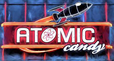 Digital Art - Atomic Candy Downtown Denton by JC Findley