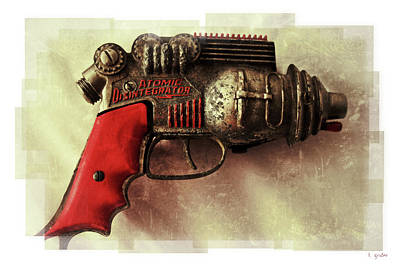 Photograph - Atomic Disentigrator Ray Gun Steampunk Relic Modern Edition by Tony Grider
