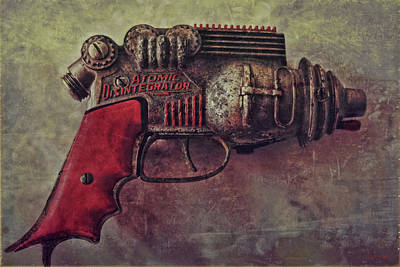 Photograph - Atomic Disentigrator Ray Gun Steampunk Relic by Tony Grider