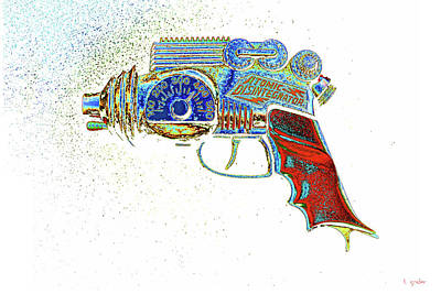 Photograph - Atomic Disintegrator Ray Gun Particle Blaster Pop Art by Tony Grider