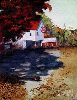 Atomic Gas Station Art Print by Nancie Johnson