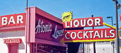 Print featuring the photograph Atomic Liquors by Matthew Bamberg