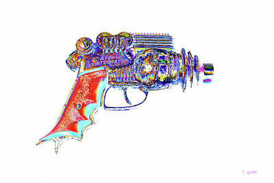 Photograph - Atomic Ray Gun Digital Pop Art by Tony Grider