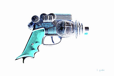 Photograph - Atomic Ray Gun Digital Pop Negative by Tony Grider