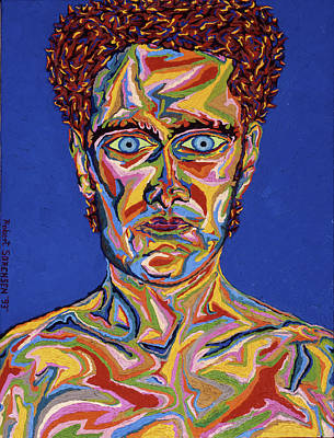 Painting - Atomic Visions - Self Portrait by Robert SORENSEN