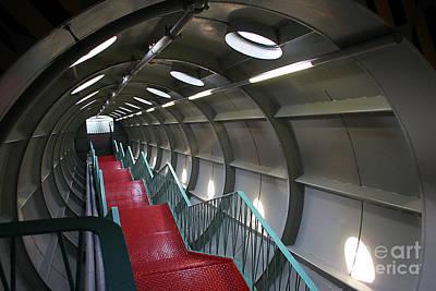 Photograph - Atomium Stairwell by PJ Boylan