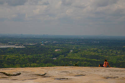Photograph - Atop Of Stone Mountain by Karol Livote