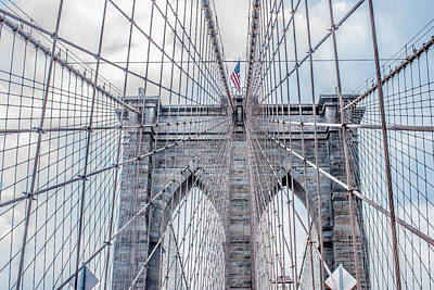 Christmas Patents Rights Managed Images - Atop the Brooklyn Bridge Royalty-Free Image by Roy Tang