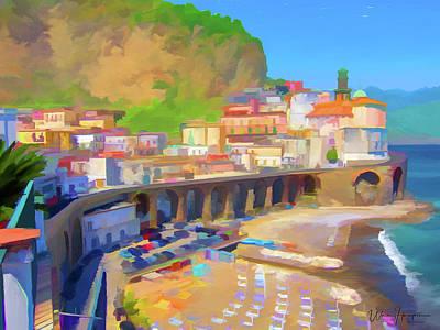 Painting - Atrani Italy 01 by Wally Hampton