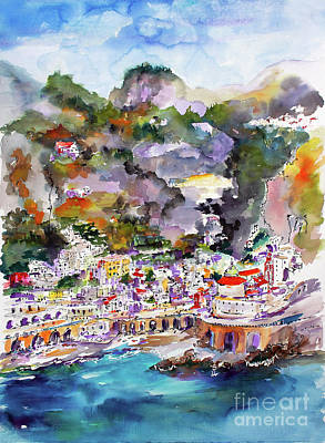 Painting - Atrani Italy Amalfi Coast Travel Europe by Ginette Callaway