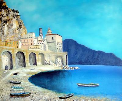 Painting - Atrani Italy by Larry Cirigliano