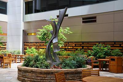 Photograph - Atrium Garden Statue by Kathryn Meyer