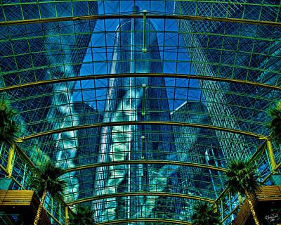 Photograph - Atrium Gm Building Detroit by Chris Lord