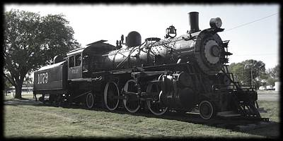 Photograph - Atsf 2-6-2 Locomotive 1079 Diminished by David Dunham